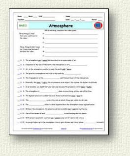 StarMaterials.com - Free Bill Nye Video Worksheets and ...