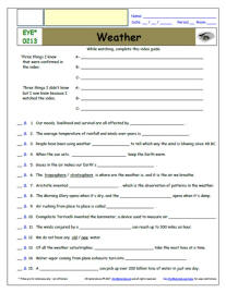 FREE Differentiated Worksheet for EYEWITNESS * - Weather ...