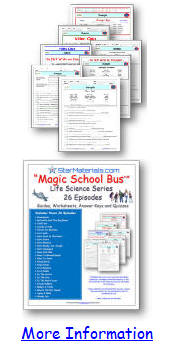 "FREE Magic School Bus* ""Gets Eaten"" - Worksheet/Video Guide"